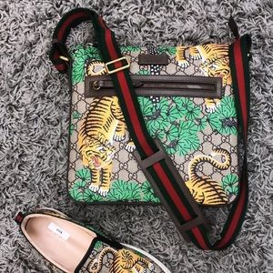 Gucci Messenger Bengal Print Bag